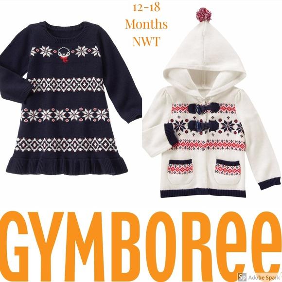 14050e59359e6 Gymboree Sweater Dress Cardigan 12-18m Clothes Lot NWT